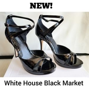 NEW WHBM PATENT LEATHER HEELS